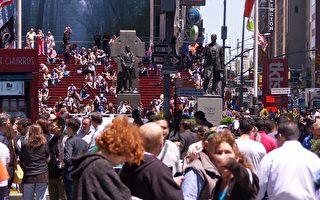 紐約時代廣場的轉變人行道拓寬10周年