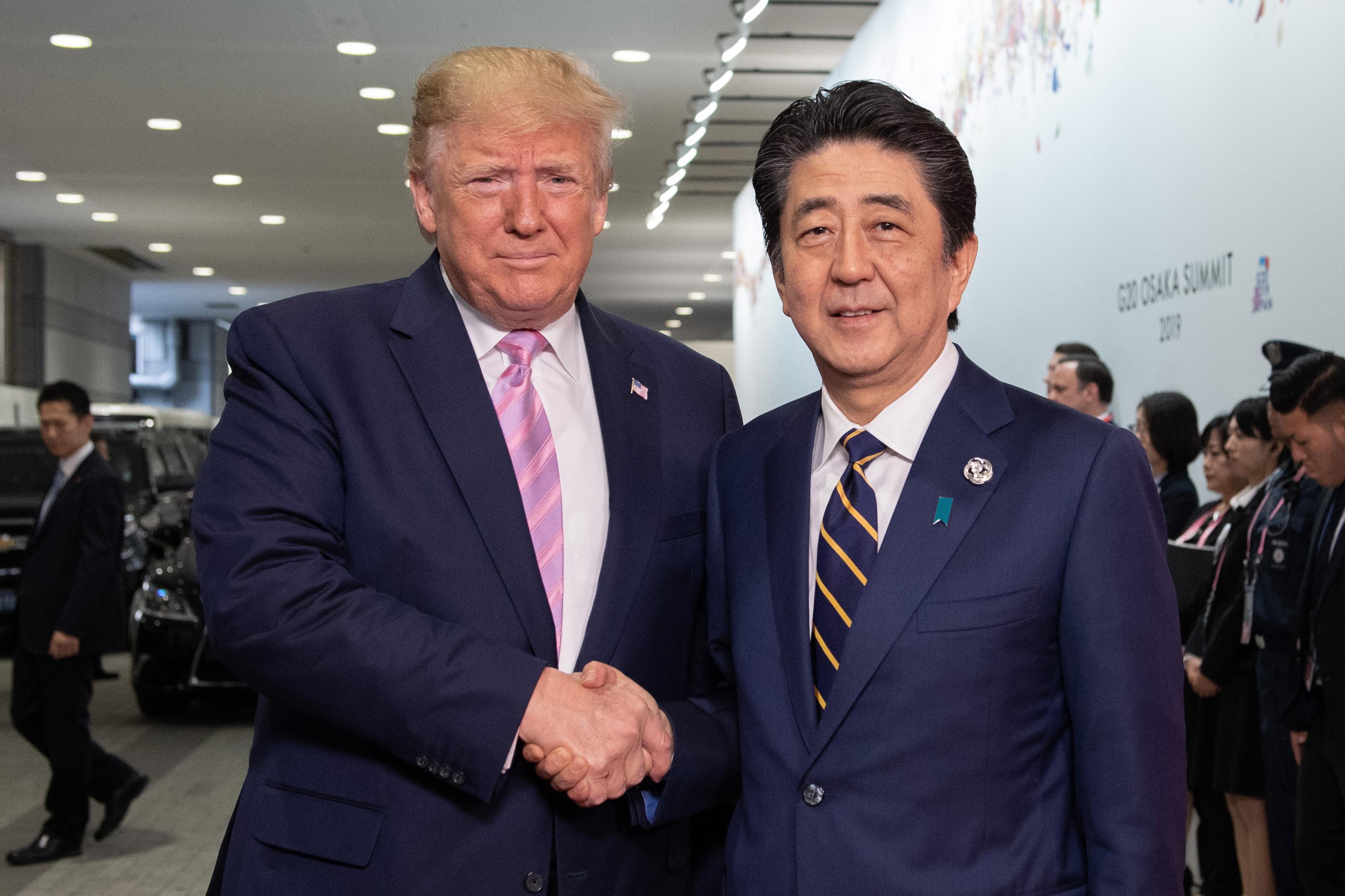 特朗普和安倍晉三通話 討論北韓最新事態發展