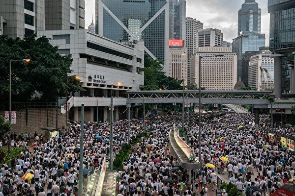 逾百萬港民6月9日走上街頭反送中。(Anthony Kwan/Getty Images)