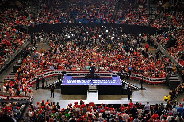 6月18日特朗普集會現場。(MANDEL NGAN/AFP/Getty Images)