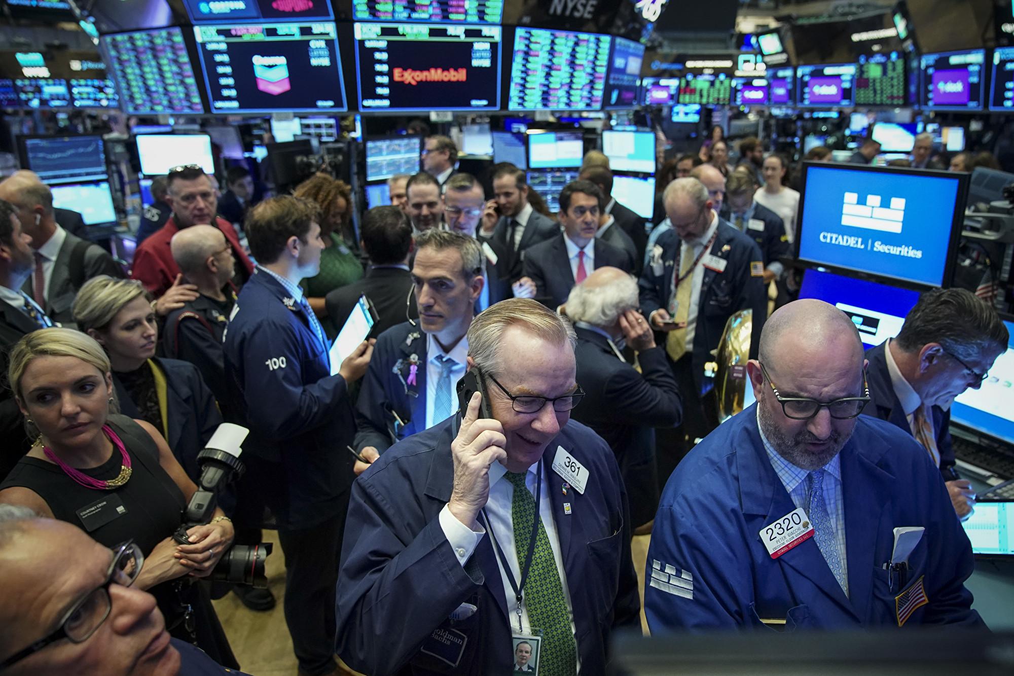 習特會登場前,周五(6月28日)美股收盤,創下六月幾十年來新高紀錄。(Drew Angerer/Getty Images)