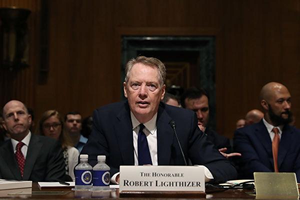 美國貿易代表羅伯特・萊特希澤(Robert Lighthizer)。