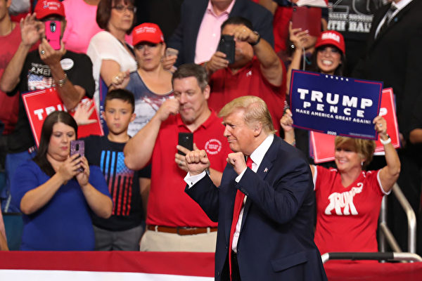 ORLANDO, FLORIDA - JUNE 18: U.S. President Donald Trump is seen during his rally where he announced his candidacy for a second presidential term at the Amway Center on June 18, 2019 in Orlando, Florida. President Trump is set to run against a wide open Democratic field of candidates. (Photo by Joe Raedle/Getty Images)
