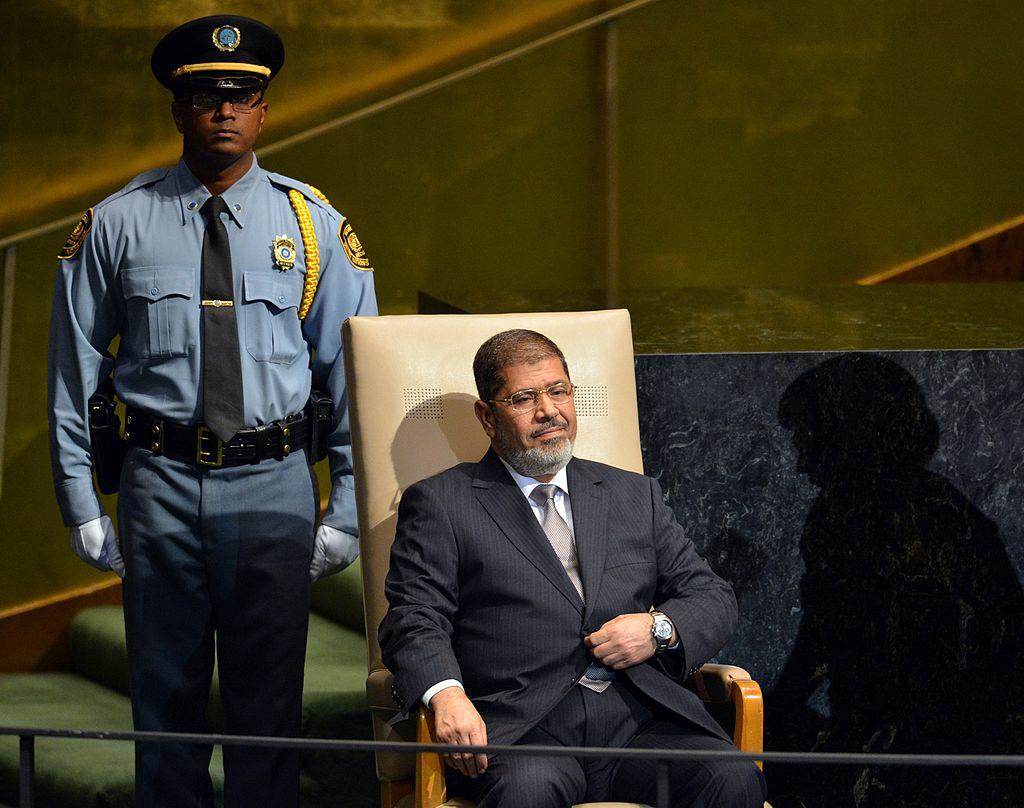 穆罕默德·穆爾西(Mohamed Morsy ,右)2012年參加聯合國大會。 (STAN HONDA/AFP/GettyImages)