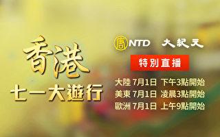 【直播】反抗暴政 55万港人七一大游行