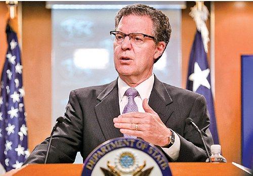 美國國際宗教自由大使布朗貝克表示,中共的活摘器官「震驚著每一個人的良知」。(Samira Bouaou/大紀元)