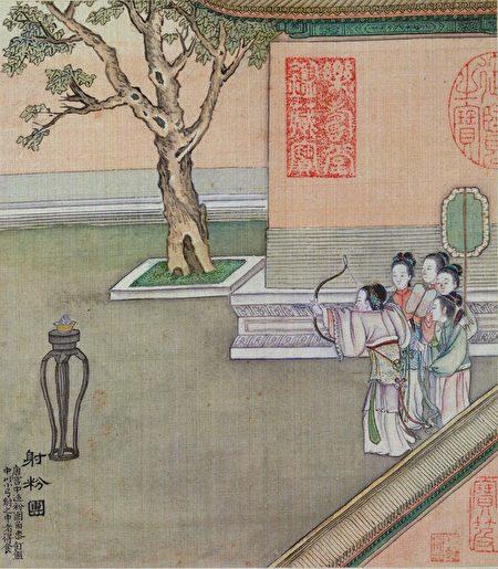 清代画家徐扬《端阳故事图册》。(公有领域)