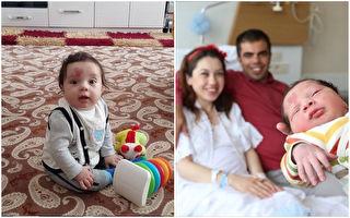 """土耳其小男孩奇纳尔(Çinar Engin)一出生就带着一份独特的祝福,迎接他来到世上的护士们称他是""""爱之子""""(Lovebaby)。(lovebaby.cinar/大纪元合成)"""