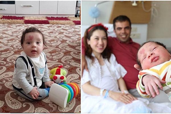 土耳其小男孩奇納爾(Çinar Engin)一出生就帶著一份獨特的祝福,迎接他來到世上的護士們稱他是「愛之子」(Lovebaby)。(lovebaby.cinar/大紀元合成)