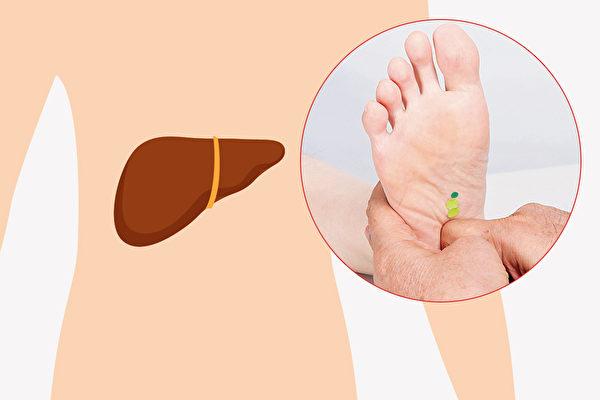 按按脚底 增强肝功能 教你7招保肝脚部按摩法