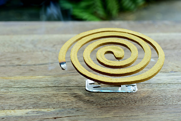 现代人使用的漩涡形环状蚊香,是电蚊香的前身。(Shutterstock)
