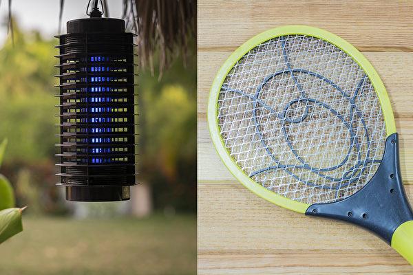 捕蚊灯是用物理方式灭蚊,通过紫外光和二氧化碳把蚊虫引诱过来。(Shutterstock)