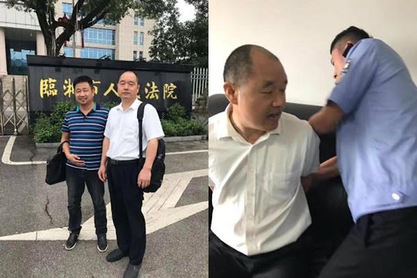 律师法院阅卷被反铐 谢阳:案卷有违法证据