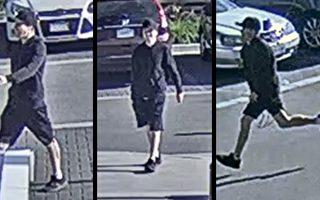 6月27日,列治文警方宣佈通緝一名在公共場所搶走一名老婦人錢包的白人嫌犯。警方已公佈監控器攝下的嫌犯外表,呼籲知情者向警方提供破案線索。(列治文警方)