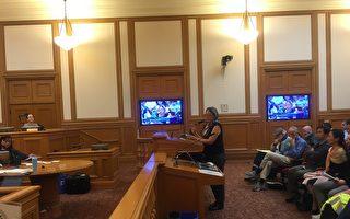 李雷绮华再次到旧金山市府发言 反对以白兰命名地铁站