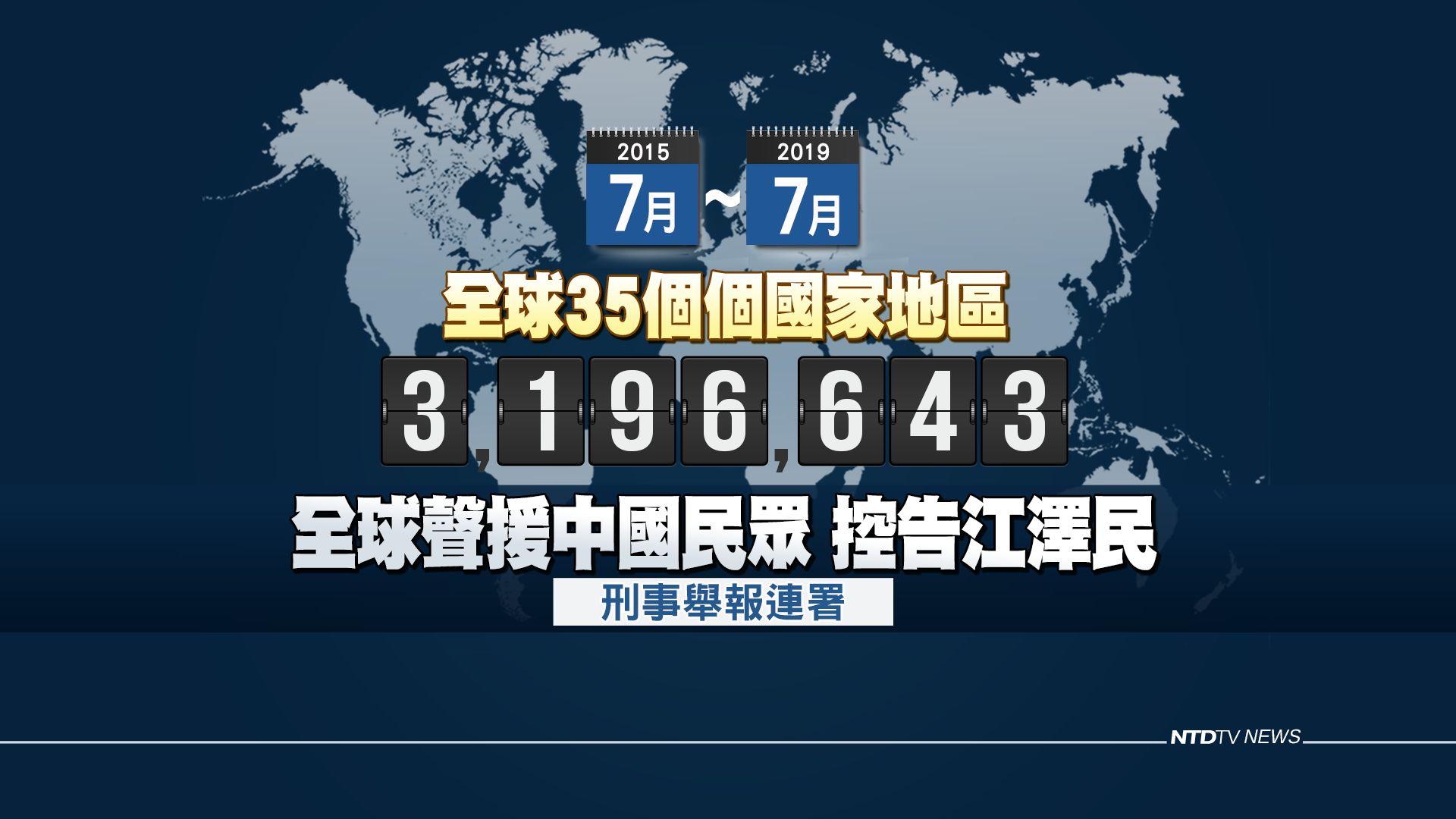 法辦元兇 全球320萬人舉報江澤民反人類罪