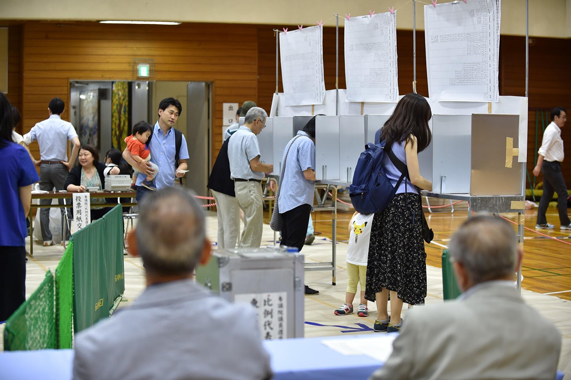 日本參院21日大選 執政聯盟拿到過半席次