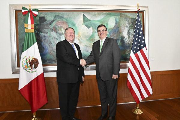 美墨協議到期前一天 蓬佩奧訪問墨西哥