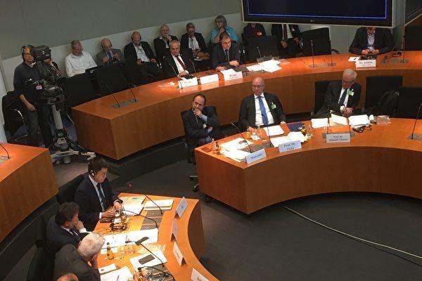 5月8日下午,德國國會人權委員會舉行中國人權問題聽證會,關注在中國發生的強摘器官罪行。(大紀元圖片庫)