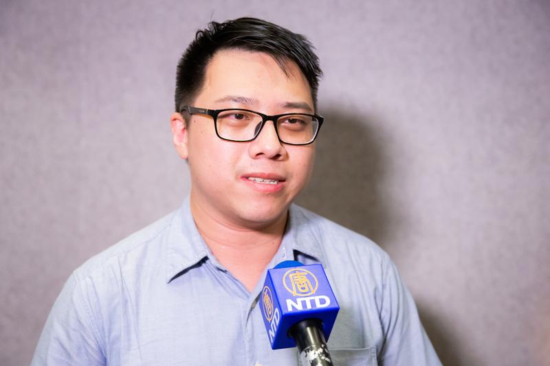 2019年7月5日晚間,禮殯公司業務經理劉恆碩觀看獲得美國阿克萊德電影節3項主要大獎的劇情片《歸途》在台北真善美劇院首映。(陳柏州/大紀元)