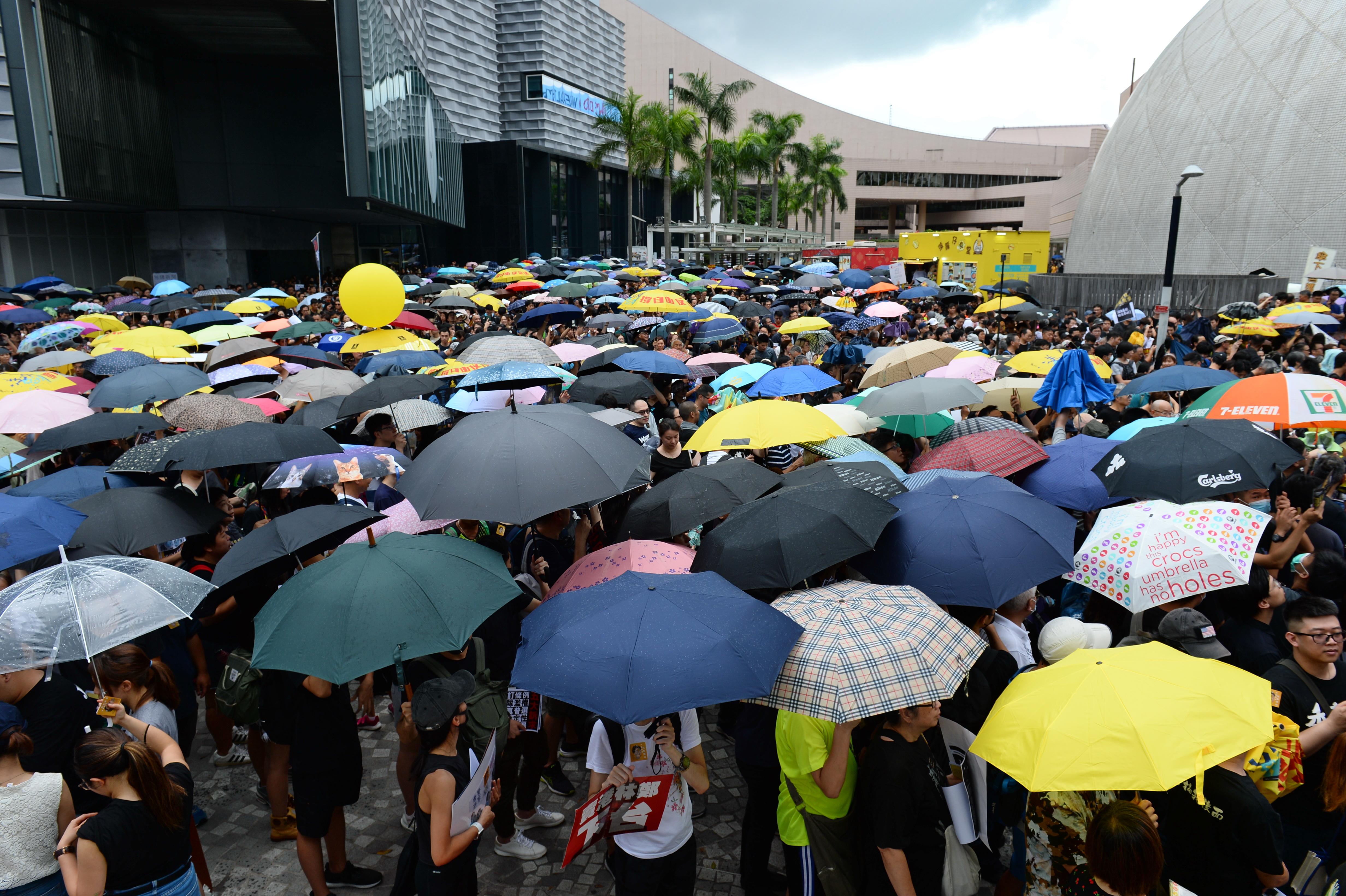 2019年7月7日,香港,港人自發舉辦九龍遊行反送中。(宋碧龍/大紀元)