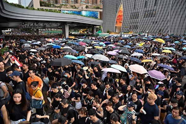 组图4:逾23万港民反送中 人潮挤爆九龙