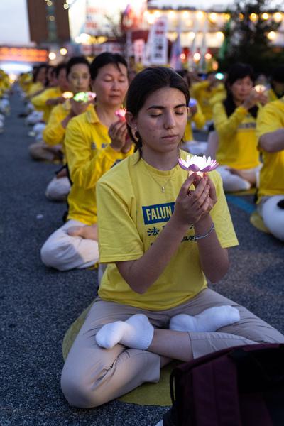 2019年7月15日,紐約法輪功學員在紐約中領館前集會,紀念720反迫害20周年。(戴兵/大紀元)