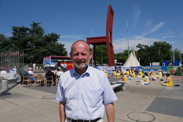 瑞士議會前主席Dominique De Buman先生。(張妮/大紀元)