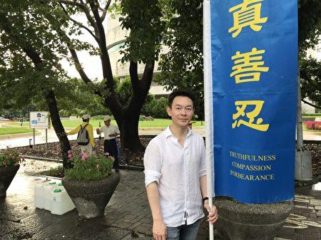 近期來台灣宣傳電影《歸途》的電影演員姜光宇,曾因在連續劇《雍正王朝》中飾演三阿哥而出名。(張原彰/大紀元)