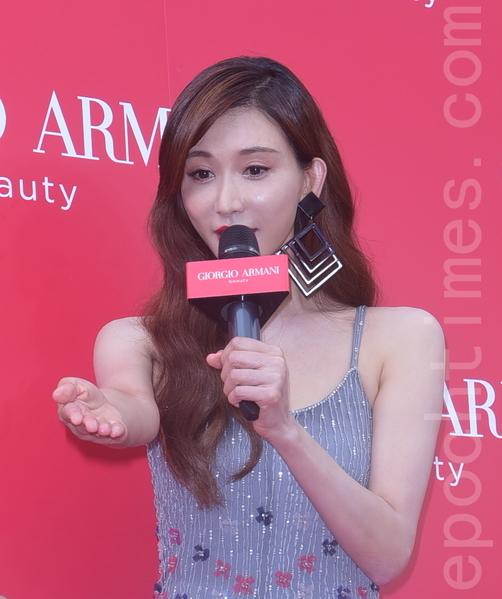 林志玲於7月27日在台北出席某彩妝品牌開幕記者會。(黃宗茂/大紀元)