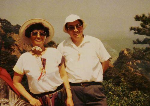 1997年潘淑珍和丈夫楊禮方旅途中留影。(潘淑珍提供)
