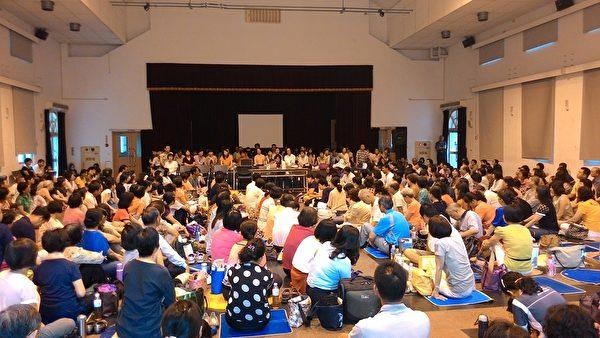 2015年6月28日,約五百名來自全台各地的法輪功學員齊聚台中,參與全台電話組集體學法交流會。(明慧網)