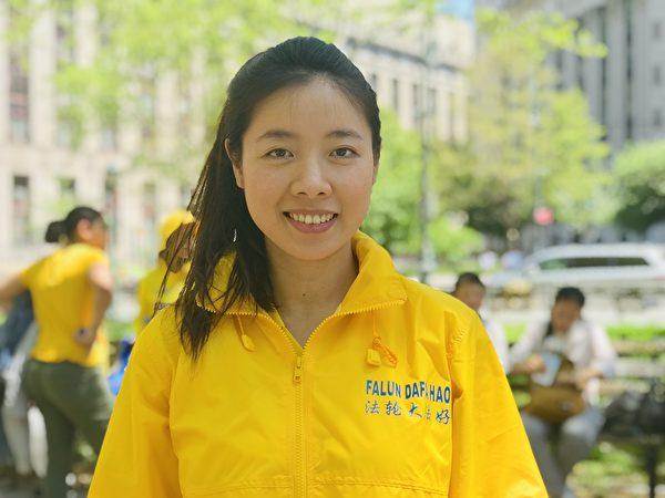 目前在德國生活的越南裔女博士鴻,兩年前了解到法輪功在中國受迫害的情況,隨後走入法輪功的修煉行列,她覺得人生由此變得更有意義。(張清颻/大紀元)