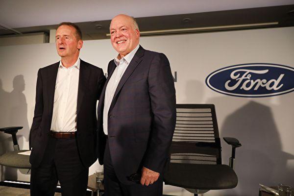福特联手大众 合作发展自动驾驶和电动车