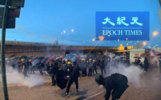 数万港人追究上环开枪 警方再度武力清场