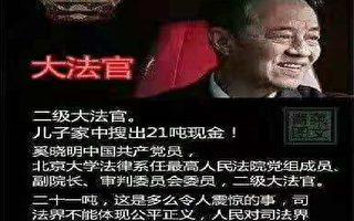 一张中共大法官贪腐图片在访民圈引热议