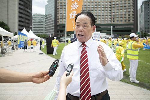 中國民主運動海外聯席會議南韓分部代表武振榮。(全景林/大紀元)