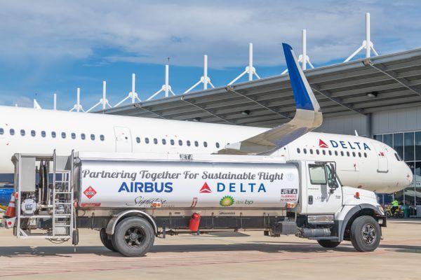 美國與歐盟間的爭端,起因於雙方對波音(Boeing)和空中巴士(Airbus)的補貼爭議。 (ERIC PIERMONT/AFP/Getty Images)