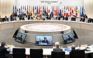 美国《华盛顿邮报》在美中贸易战的进退得失上,误导了美国民众和世界舆论,令人遗憾。图为今年6月日本大阪G20峰会上,日本首相安倍晋三在致词。(Getty Imges)
