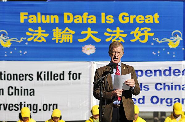 澳洲傳統家庭守護聯盟(Australian TFP)負責人保羅·弗利(Paul Folley)盼望中國人民在擺脫共產暴政後,創造出世界上最美麗的文明。(沈科/大紀元)