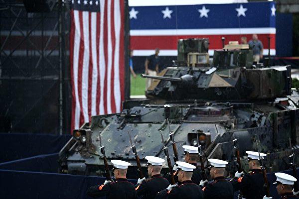 2019年7月4日,在華盛頓DC的林肯紀念堂前舉行美國獨立日慶祝活動。(BRENDAN SMIALOWSKI/AFP/Getty Images
