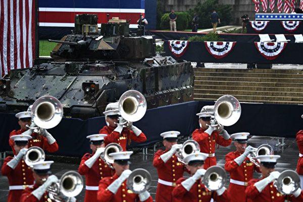 2019年7月4日,在華盛頓DC的林肯紀念堂前舉行美國獨立日慶祝活動。 (BRENDAN SMIALOWSKI/AFP/Getty Images)