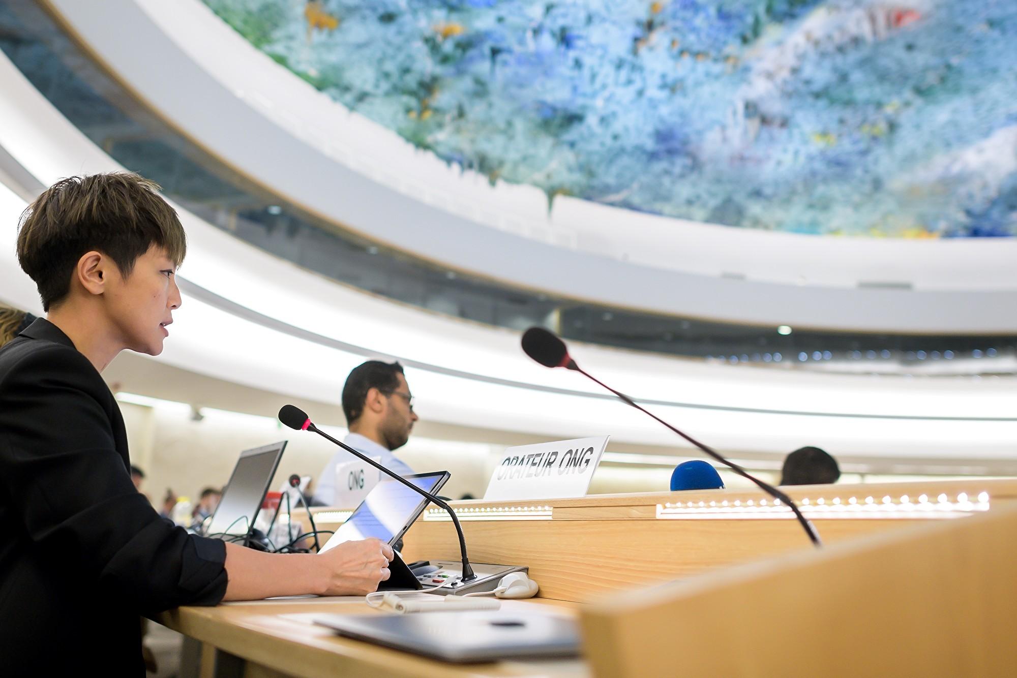 何韻詩UN反送中 籲把中共趕出人權理事會