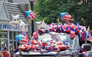 组图:美国独立日 芝加哥埃文斯顿举办游行