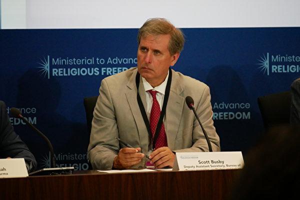 美國國務院民主、人權暨勞工局副助卿巴斯比(Scott Busby)。(李辰/大紀元)