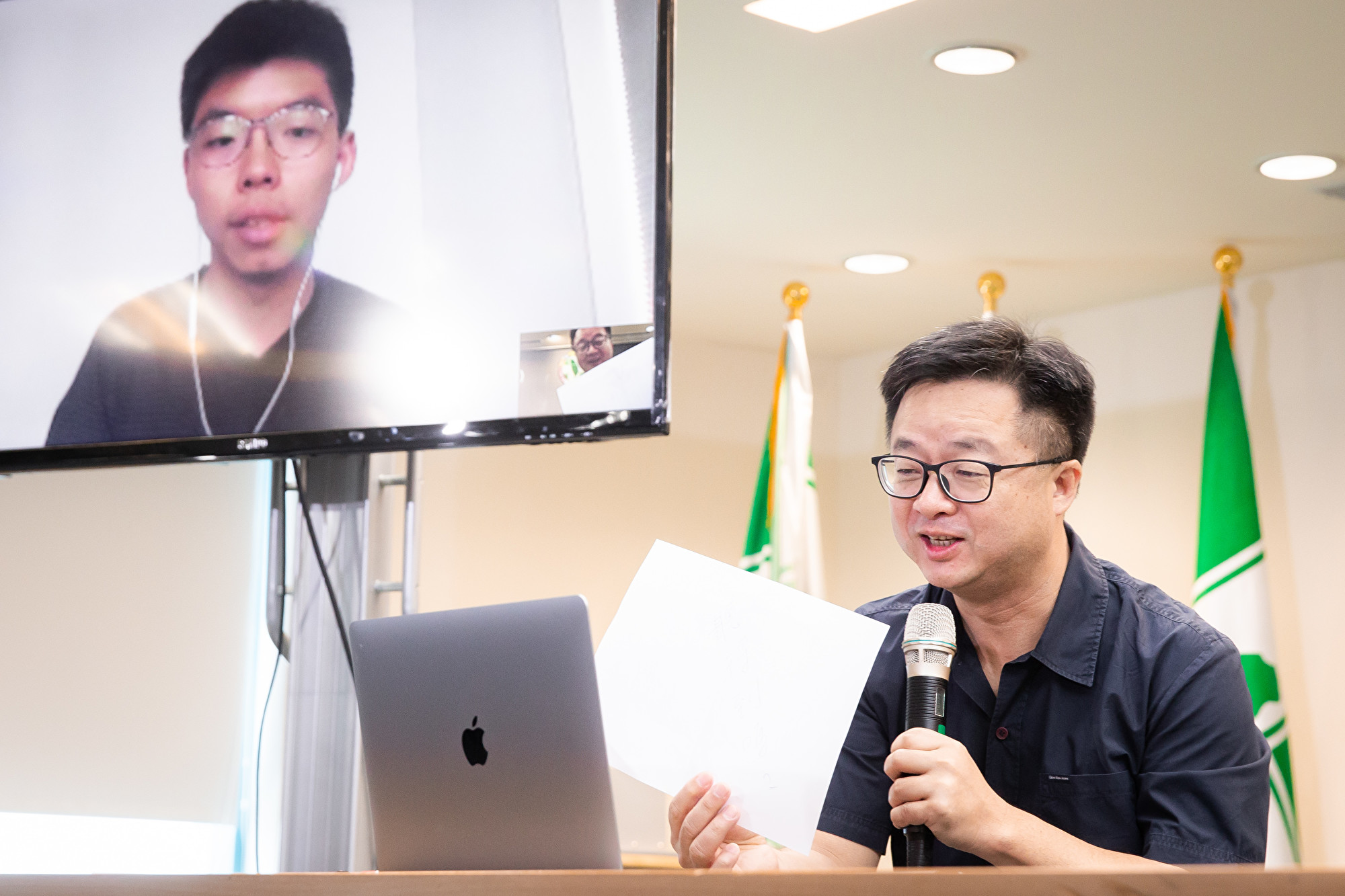 黃之鋒:一國兩制失敗 絕不能在台灣落實