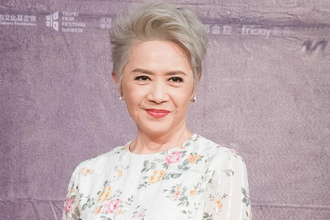 今年71歲的香港資深藝人葉德嫻在台灣出席電影記者會資料照。(陳柏州/大紀元)