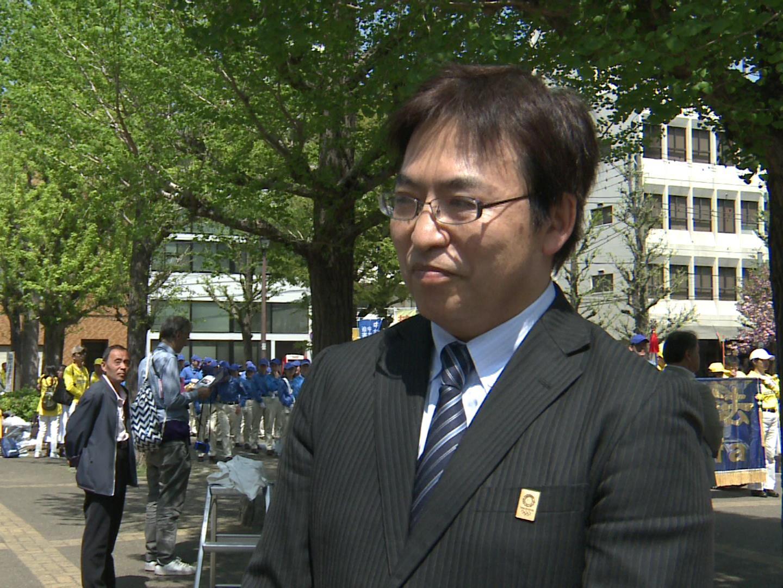 神奈川縣逗子市議會議員丸山治章,一直關注法輪功學員在中國的人權問題。(資料圖片)