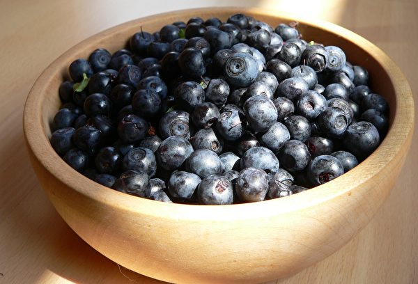 蓝莓中的花青素具有降血压的功效。(Pixabay)