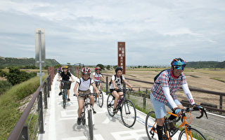 忘憂谷堤頂自行車道啟用 開啟賞景新視野